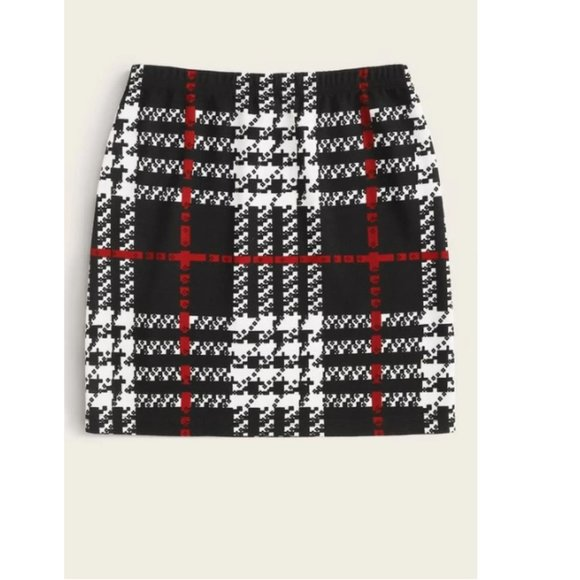 Dresses & Skirts - Womens black, red, and white skirt size M